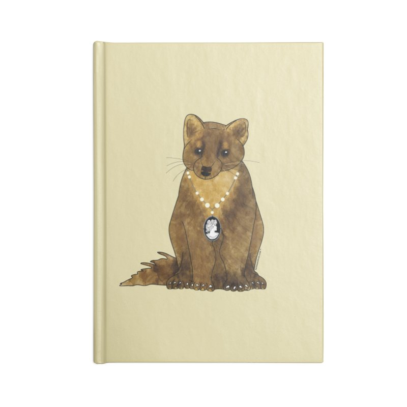 Classy Cameo - Lady Pine Marten Accessories Notebook by Natina Norton Designs