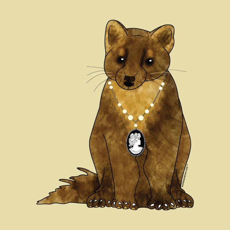 Classy Cameo - Lady Pine Marten Men's Sweatshirt by Natina Norton Designs