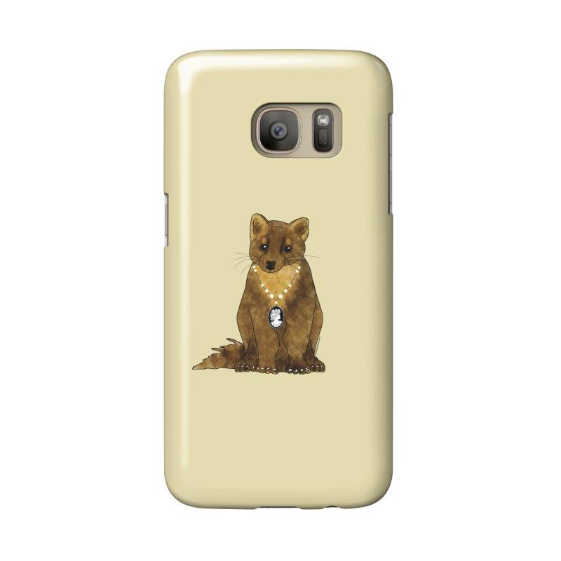 Classy Cameo - Lady Pine Marten Accessories Phone Case by Natina Norton Designs