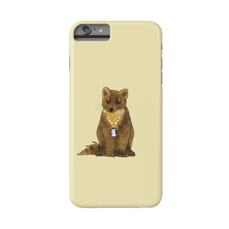 Classy Cameo - Lady Pine Marten Accessories Phone Case by Natina Norton Designs