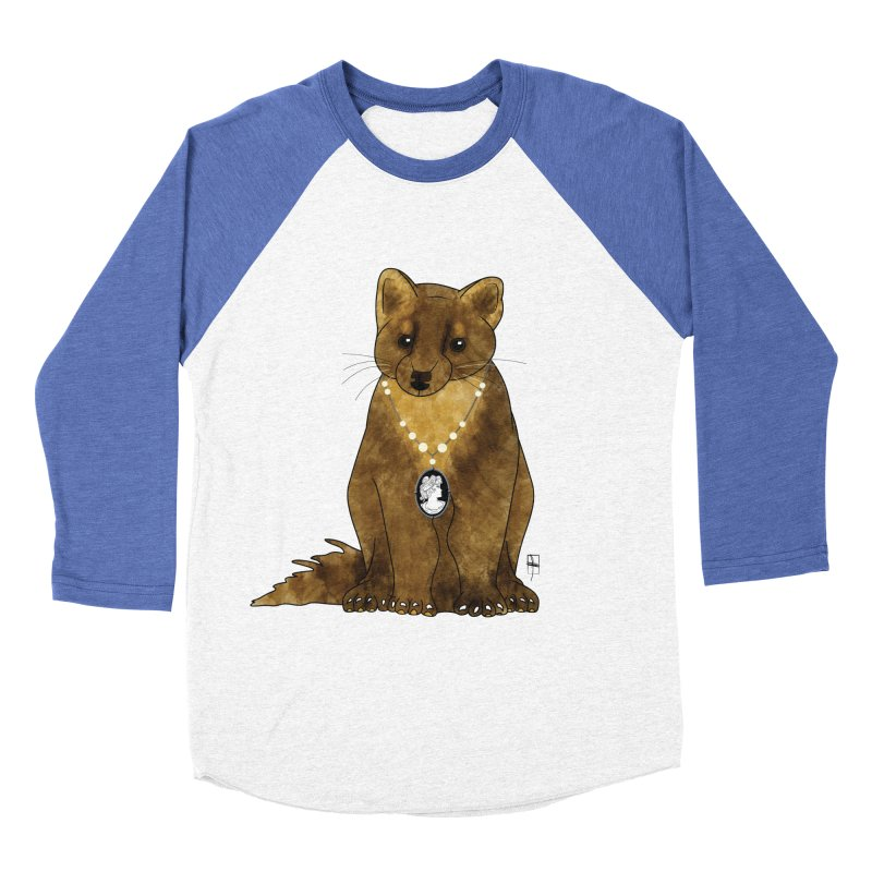 Lady Pine Marten Women's Baseball Triblend T-Shirt by Hardcore Hardwear & Design Shop