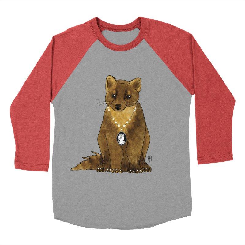 Lady Pine Marten Men's Baseball Triblend T-Shirt by Hardcore Hardwear & Design Shop