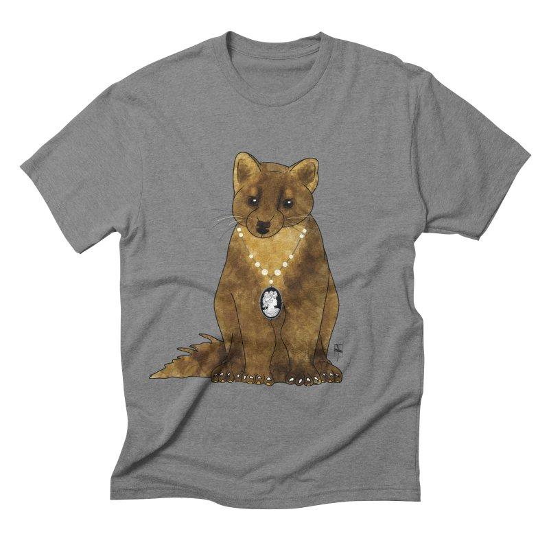 Lady Pine Marten Men's Triblend T-shirt by Hardcore Hardwear & Design Shop