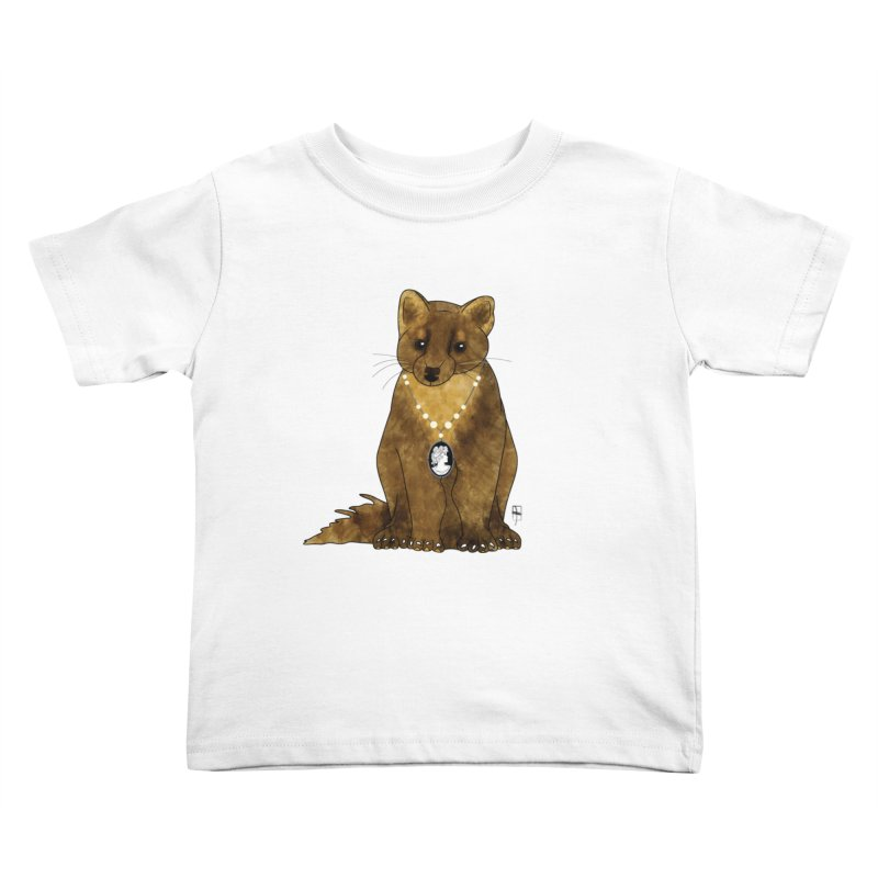 Lady Pine Marten Kids Toddler T-Shirt by Hardcore Hardwear & Design Shop