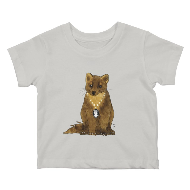 Lady Pine Marten Kids Baby T-Shirt by Hardcore Hardwear & Design Shop
