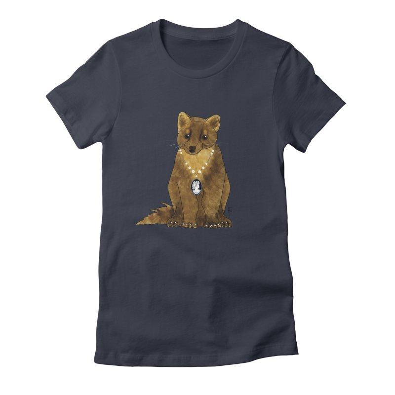 Lady Pine Marten Women's Fitted T-Shirt by Hardcore Hardwear & Design Shop