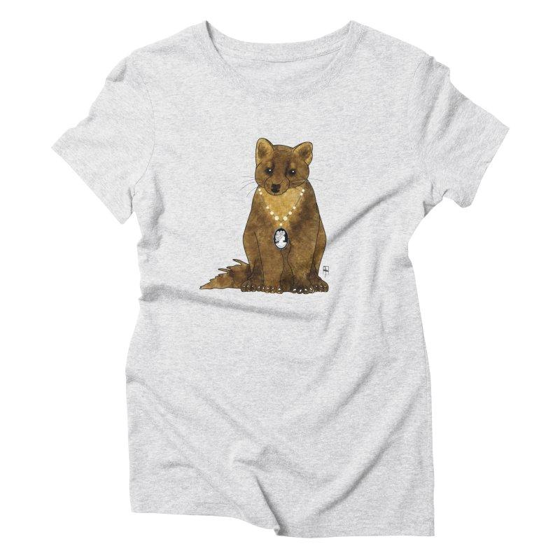 Lady Pine Marten Women's Triblend T-shirt by Hardcore Hardwear & Design Shop