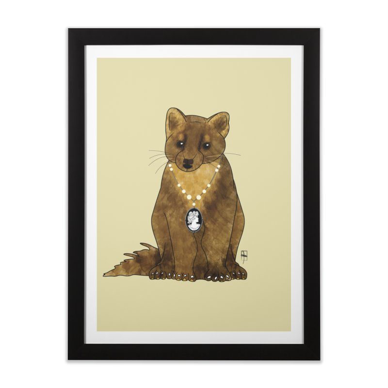 Lady Pine Marten Home Framed Fine Art Print by Hardcore Hardwear & Design Shop
