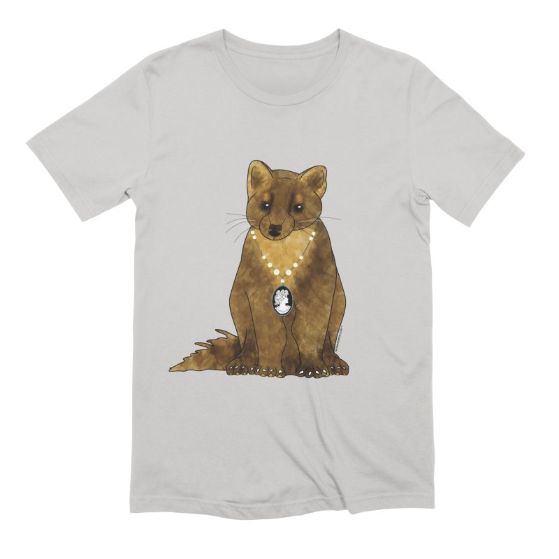 Classy Cameo - Lady Pine Marten Men's T-Shirt by Natina Norton Designs