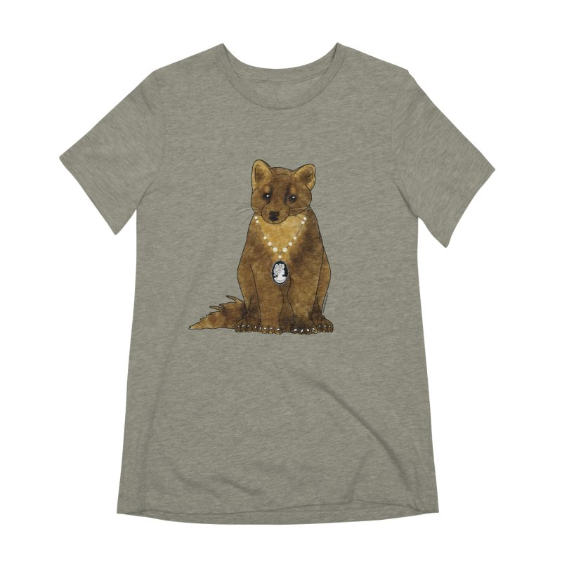 Classy Cameo - Lady Pine Marten Women's Extra Soft T-Shirt by Natina Norton Designs