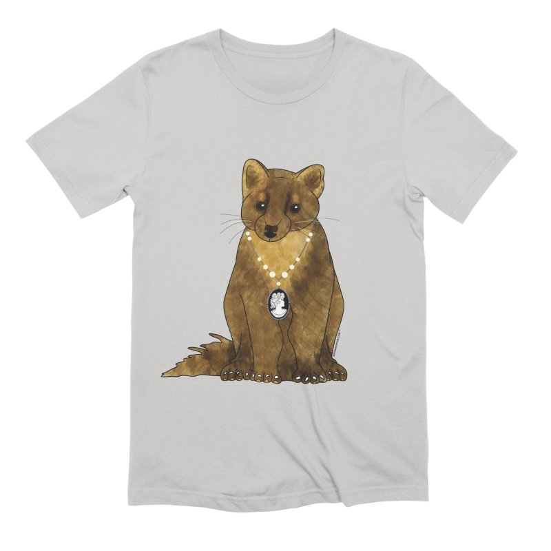 Classy Cameo - Lady Pine Marten Men's Extra Soft T-Shirt by Natina Norton Designs