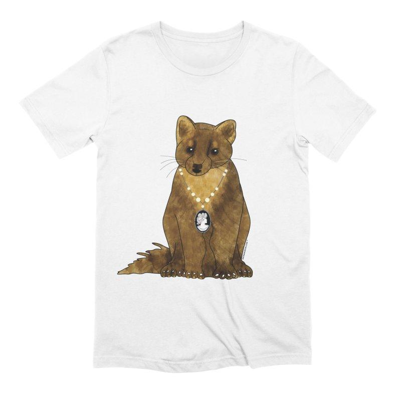 Classy Cameo - Lady Pine Marten Men's Extra Soft T-Shirt by Natina Norton Designs