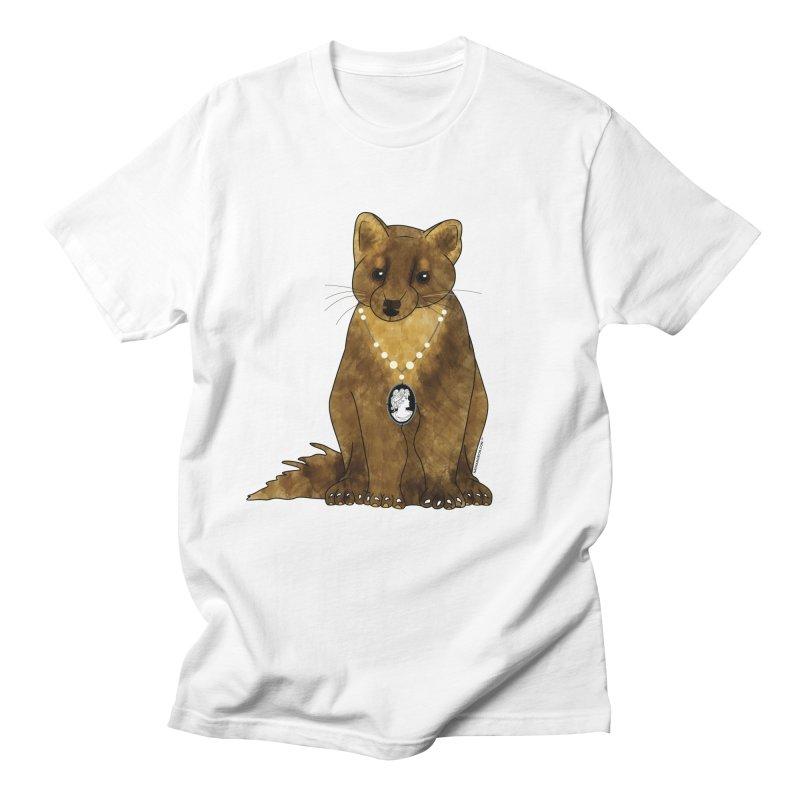 Classy Cameo - Lady Pine Marten Men's T-Shirt by Natina Norton Designs