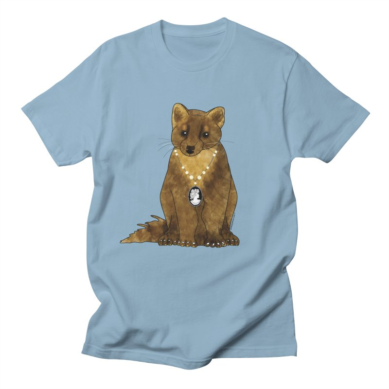 Classy Cameo - Lady Pine Marten Men's Regular T-Shirt by Natina Norton Designs