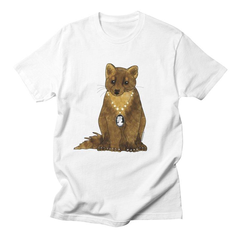 Classy Cameo - Lady Pine Marten Men's Regular T-Shirt by Natina Norton Designs