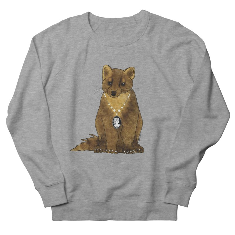Classy Cameo - Lady Pine Marten Men's French Terry Sweatshirt by Natina Norton Designs