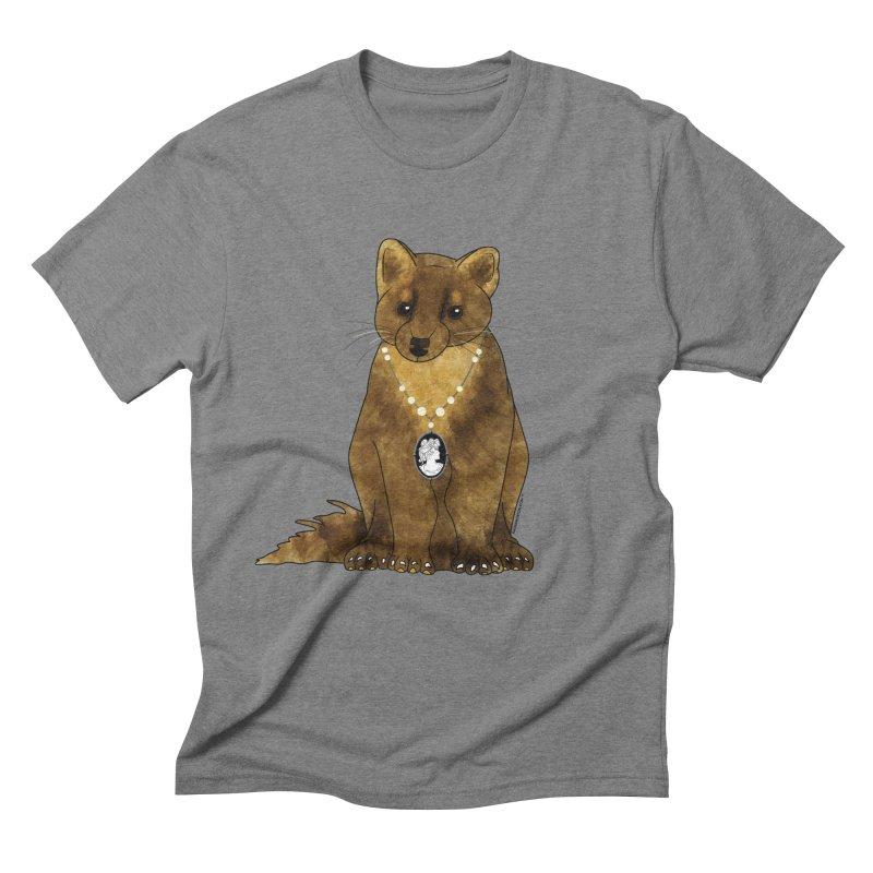 Lady Pine Marten Men's Triblend T-Shirt by Natina Norton Designs