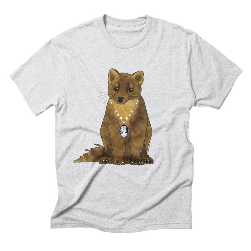 Lady Pine Marten Men's Triblend T-Shirt by Natina Norton Designs