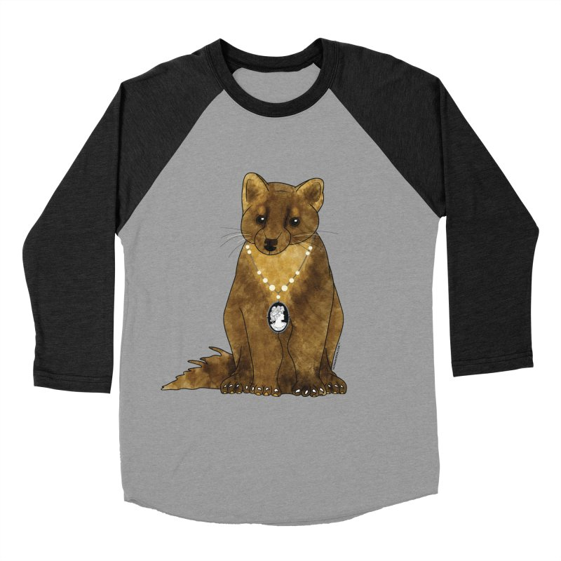 Lady Pine Marten Women's Baseball Triblend T-Shirt by Natina Norton Designs