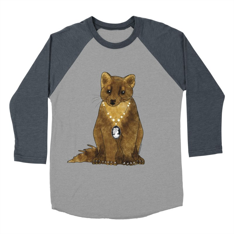 Classy Cameo - Lady Pine Marten Women's Baseball Triblend Longsleeve T-Shirt by Natina Norton Designs