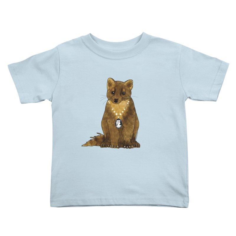 Lady Pine Marten Kids Toddler T-Shirt by Natina Norton Designs