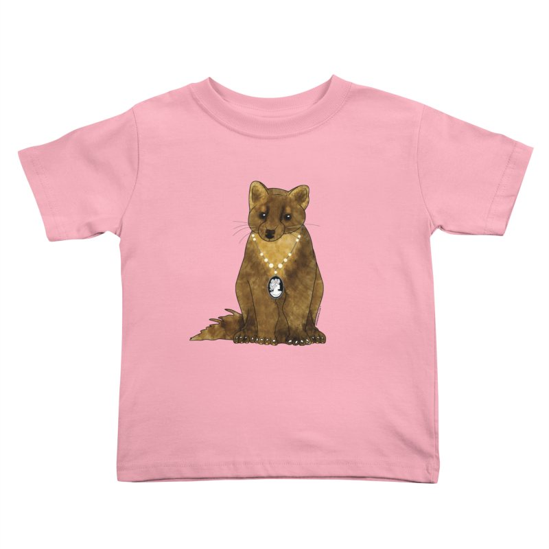 Classy Cameo - Lady Pine Marten Kids Toddler T-Shirt by Natina Norton Designs