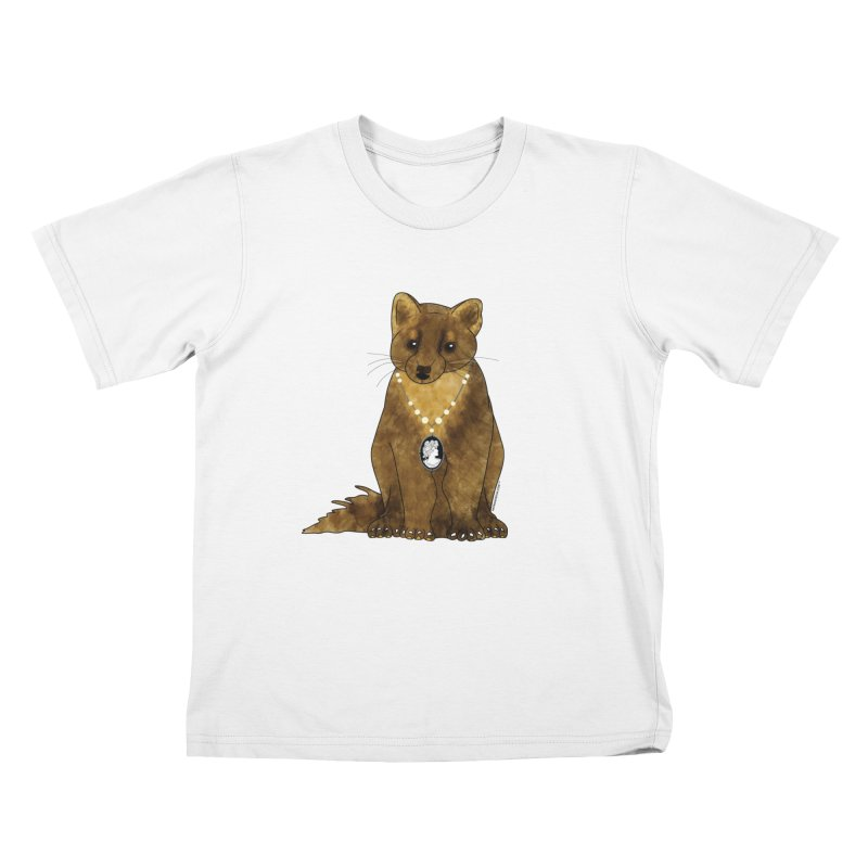 Classy Cameo - Lady Pine Marten Kids T-Shirt by Natina Norton Designs