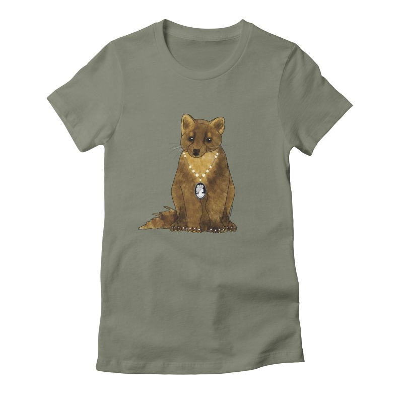 Classy Cameo - Lady Pine Marten Women's Fitted T-Shirt by Natina Norton Designs