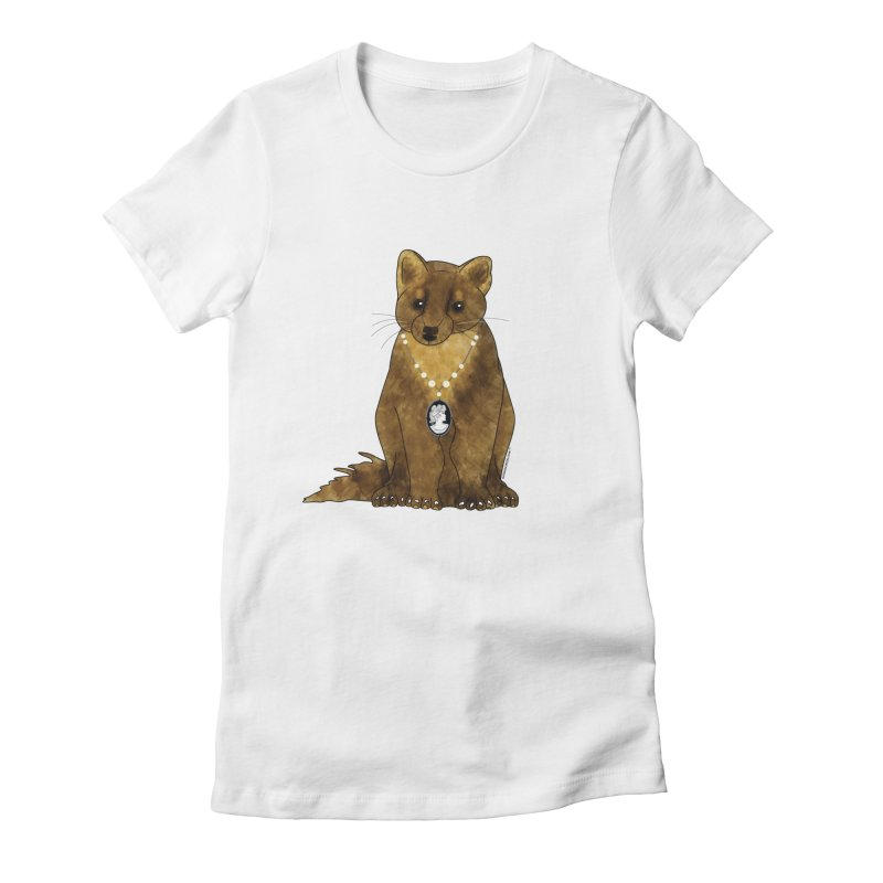 Lady Pine Marten Women's Fitted T-Shirt by Natina Norton Designs