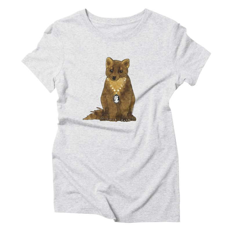 Classy Cameo - Lady Pine Marten Women's Triblend T-Shirt by Natina Norton Designs