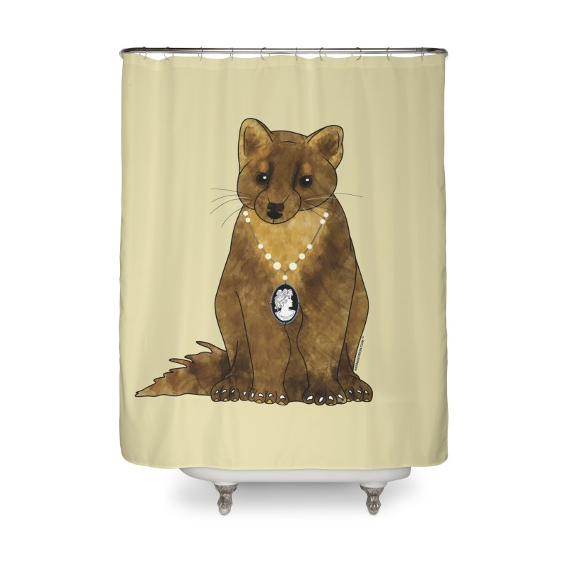 Classy Cameo - Lady Pine Marten Home Shower Curtain by Natina Norton Designs