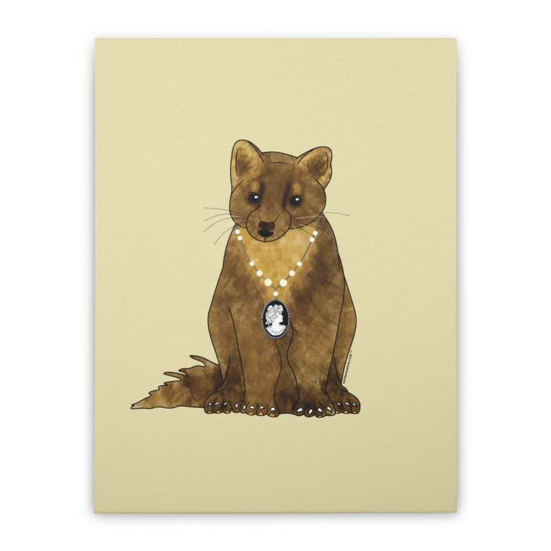 Lady Pine Marten Home Stretched Canvas by Natina Norton Designs