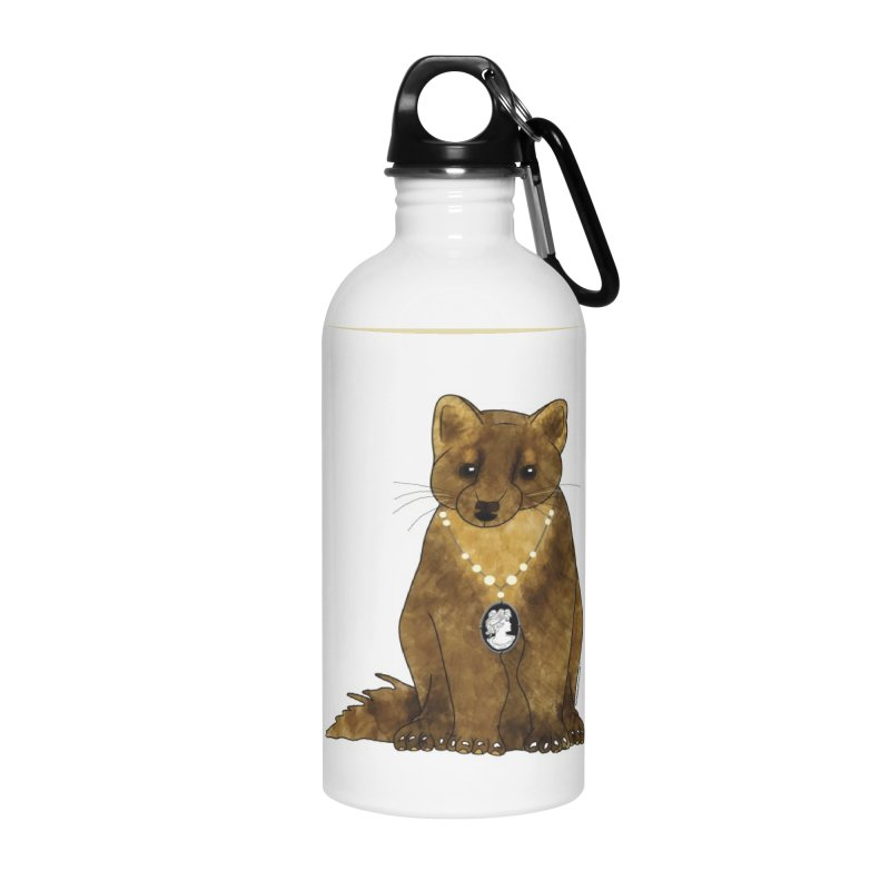 Classy Cameo - Lady Pine Marten Accessories Water Bottle by Natina Norton Designs