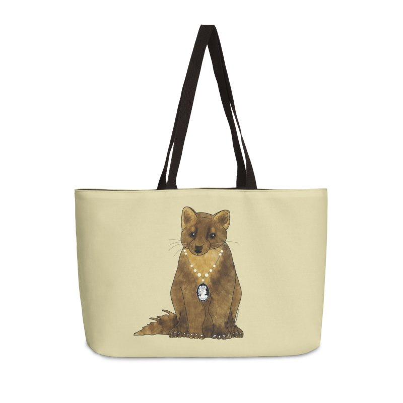 Classy Cameo - Lady Pine Marten Accessories Weekender Bag Bag by Natina Norton Designs