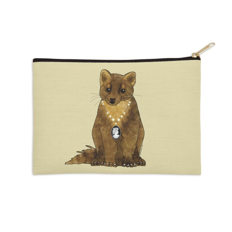 Lady Pine Marten Accessories Zip Pouch by Natina Norton Designs