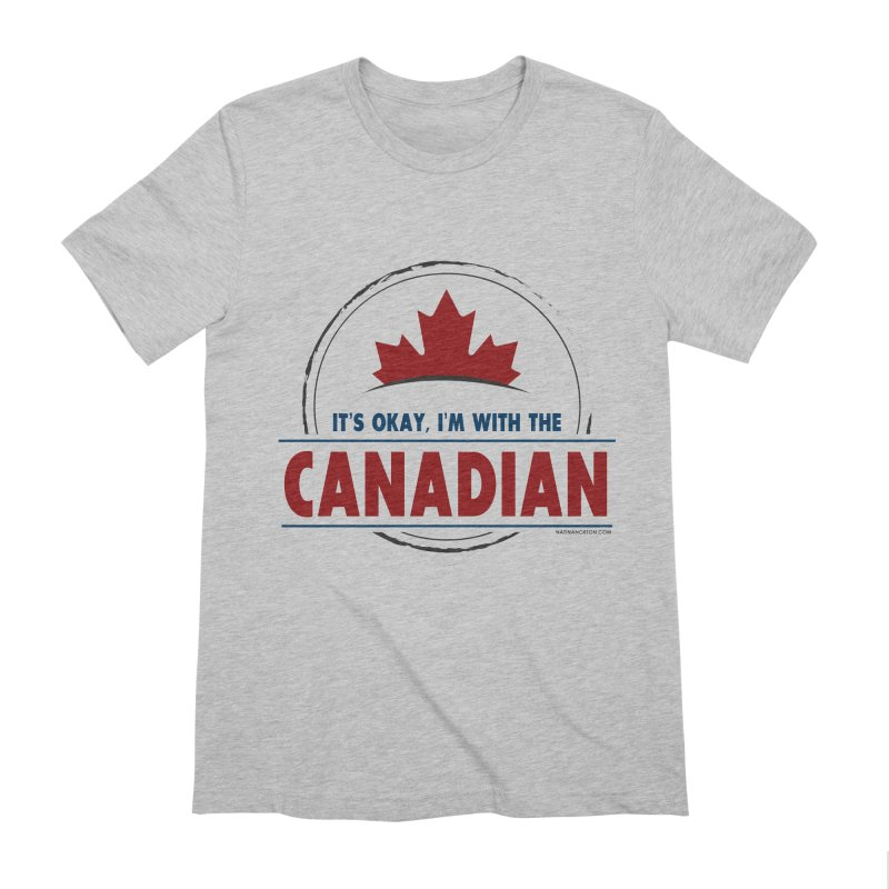 Canada Couples - It's Okay, I'm With the Canadian Men's Extra Soft T-Shirt by Natina Norton Designs