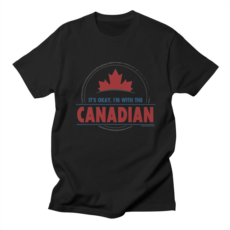 Canada Couples - It's Okay, I'm With the Canadian Women's T-Shirt by Natina Norton Designs