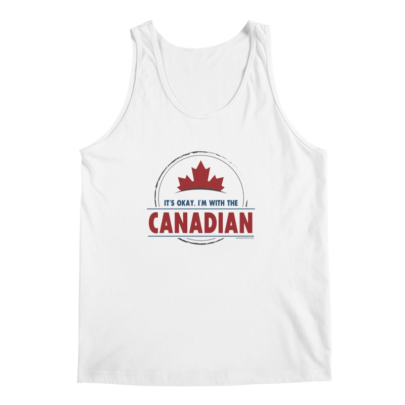 Canada Couples - It's Okay, I'm With the Canadian Men's Regular Tank by Natina Norton Designs