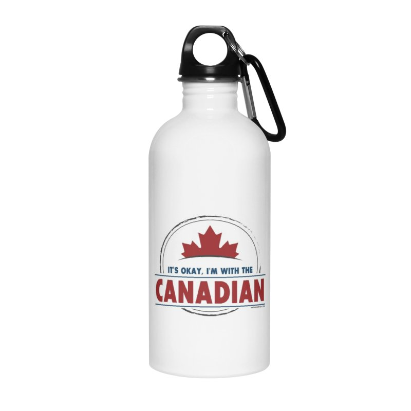 Canada Couples - It's Okay, I'm With the Canadian Accessories Water Bottle by Natina Norton Designs