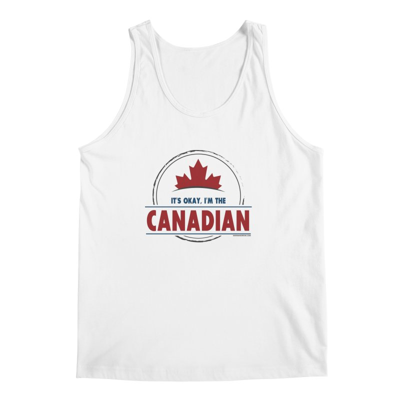 Canada Couples - It's Okay, I'm the Canadian Men's Regular Tank by Natina Norton Designs
