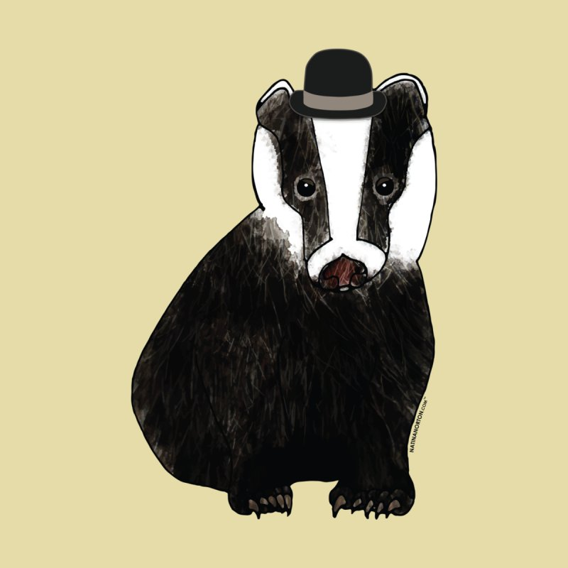Badger in a Hat - Sir Sherbet Badgerly Women's T-Shirt by Natina Norton Designs