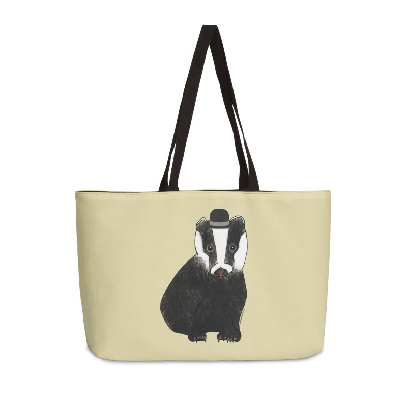 Badger in a Hat - Sir Sherbet Badgerly Accessories Weekender Bag Bag by Natina Norton Designs