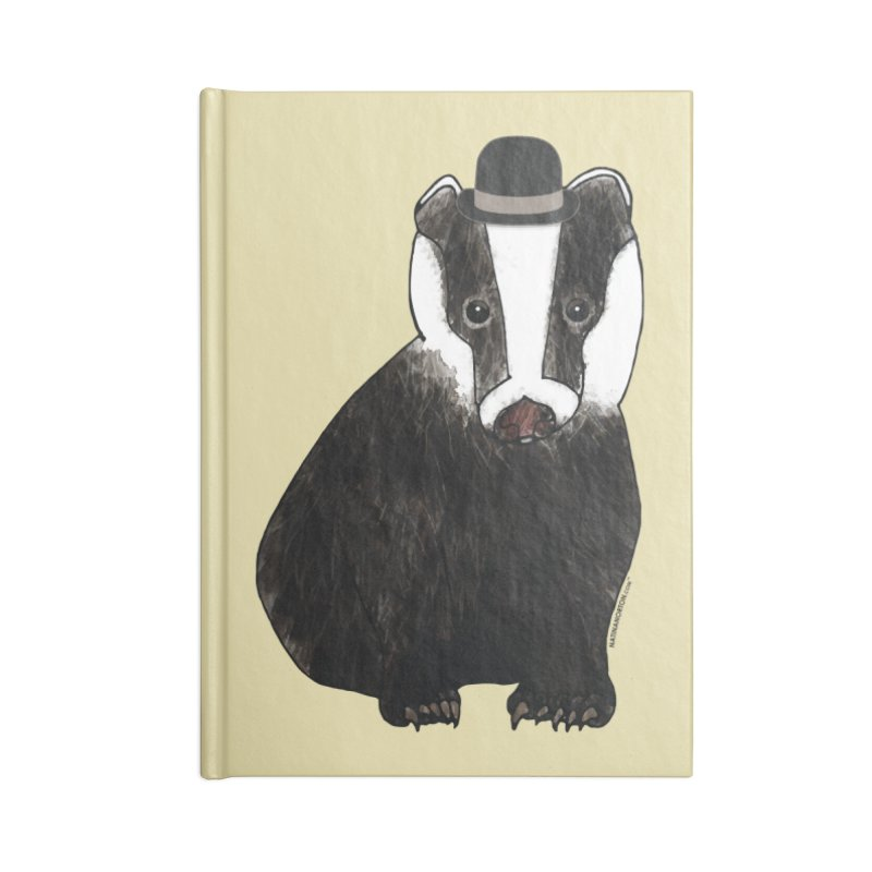 Badger in a Hat - Sir Sherbet Badgerly Accessories Notebook by Natina Norton Designs