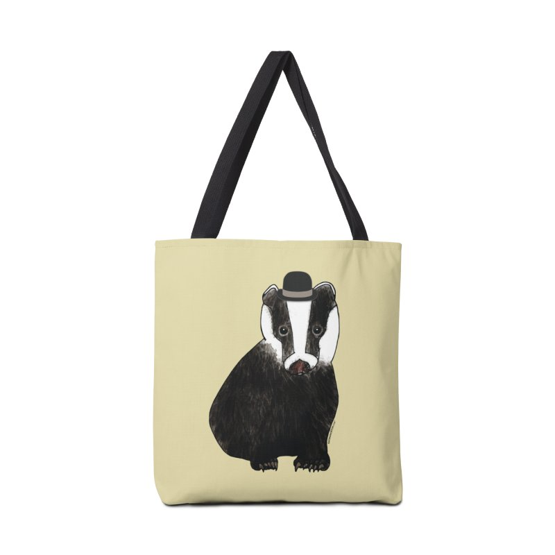Badger in a Hat - Sir Sherbet Badgerly Accessories Tote Bag Bag by Natina Norton Designs