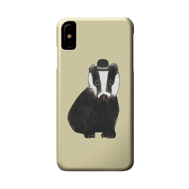 Badger in a Hat - Sir Sherbet Badgerly Accessories Phone Case by Natina Norton Designs