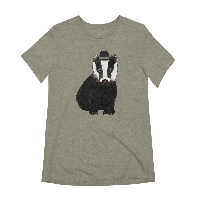 Badger in a Hat - Sir Sherbet Badgerly Women's Extra Soft T-Shirt by Natina Norton Designs