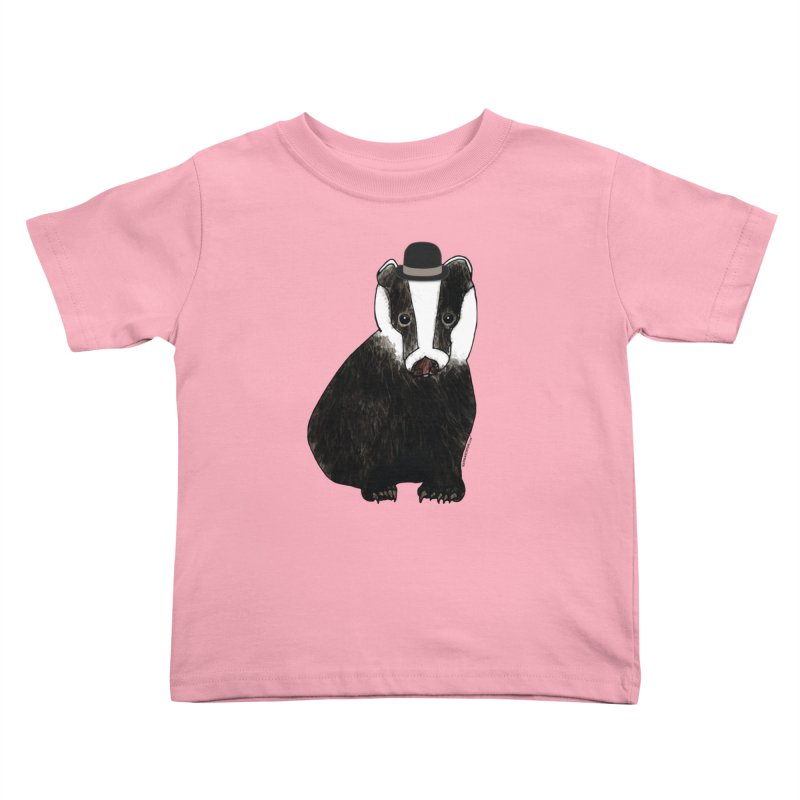 Badger in a Hat - Sir Sherbet Badgerly Kids Toddler T-Shirt by Natina Norton Designs