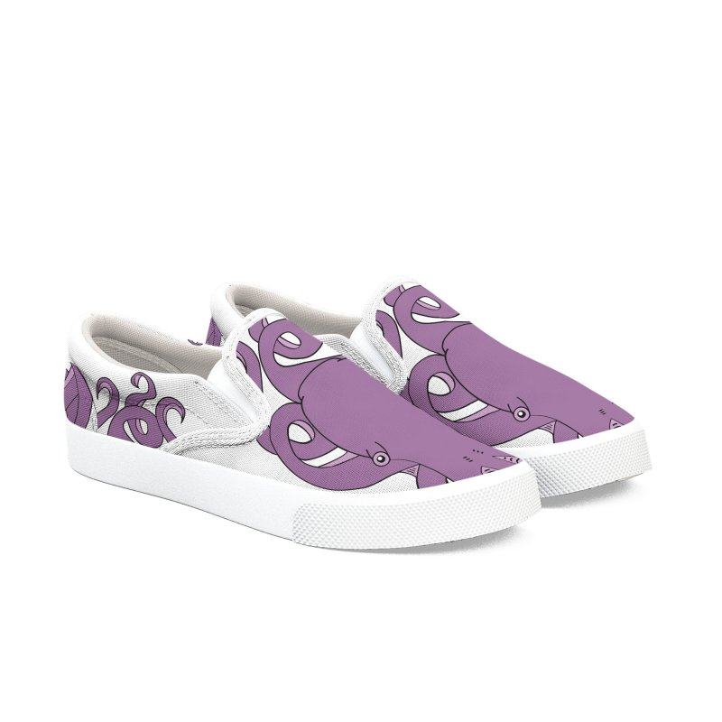 Nautikos the Octopus Men's Slip-On Shoes by Natina Norton Designs