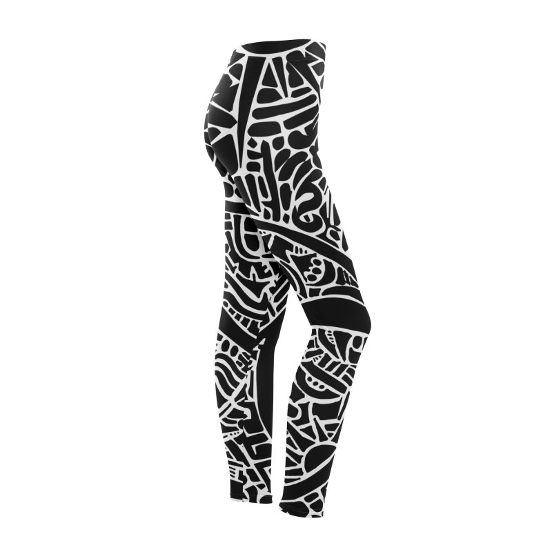 Stream of Consciousness Mural - Black & White Women's Bottoms by Natina Norton Designs