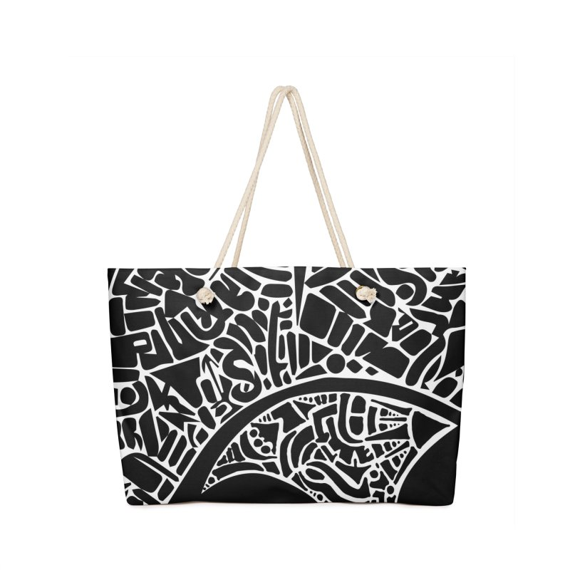 Stream of Consciousness Mural - Black & White Accessories Bag by Natina Norton Designs